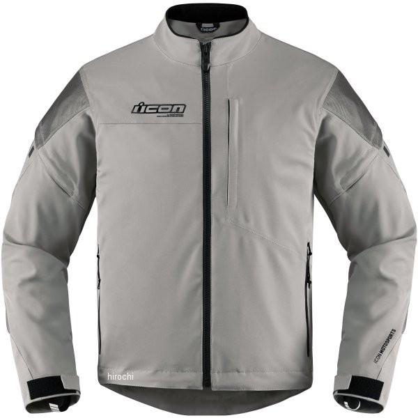 【USA在庫あり】 アイコン ICON 秋冬モデル 防水ジャケット Tarmac グレー Lサイズ 2820-4033 HD店
