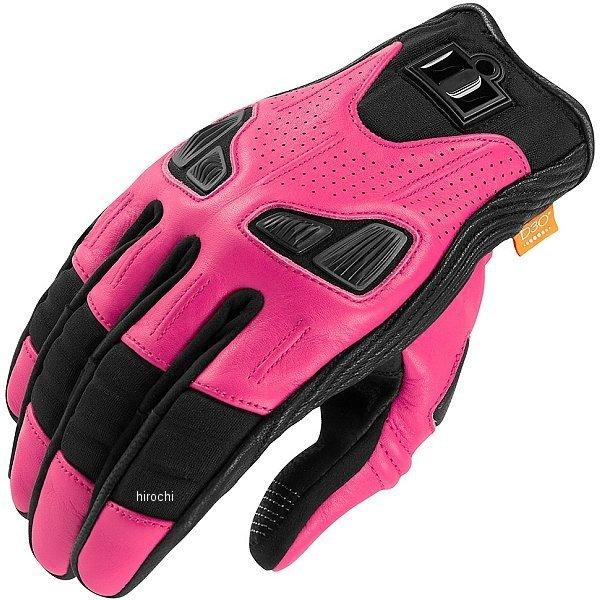 アイコン ICON レザーグローブ オートマグ2 女性用 ピンク Lサイズ 3302-0680 HD店