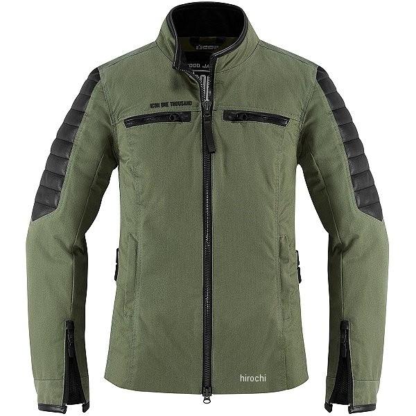 【USA在庫あり】 アイコン ICON 秋冬モデル ジャケット MH 1000 レディース グリーン Lサイズ 2822-1060 HD店