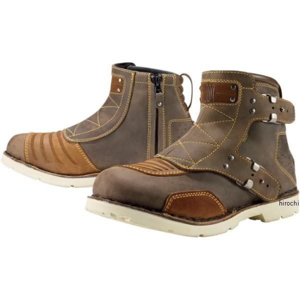 【メーカー在庫あり】 アイコン ICON ブーツ El Bajo レディース ブラウン 9.5サイズ 25.5cm 3403-0428 HD店