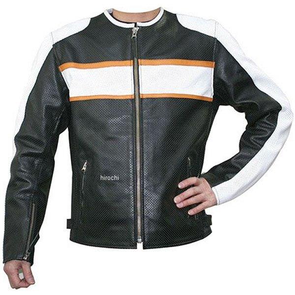 モトフィールド MOTO FIELD 春夏モデル シングルレザージャケット 黒/白 Lサイズ MF-LJ017P HD店