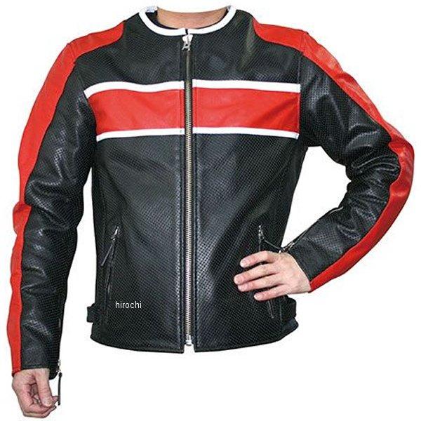 モトフィールド MOTO FIELD 春夏モデル シングルレザージャケット 黒/赤 LLサイズ MF-LJ017P HD店