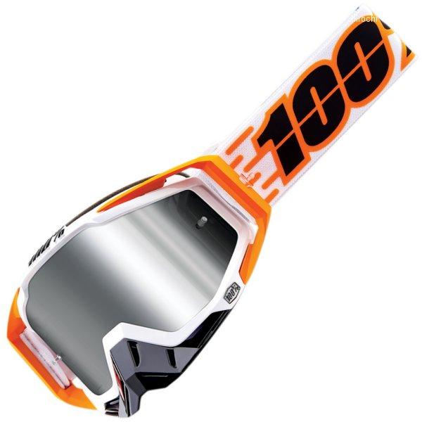 【USA在庫あり】 100パーセント 100% ゴーグル Racecraft Plus Illumina 白/オレンジ/黒 2601-2508 HD店