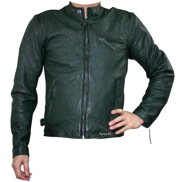 モトフィールド MOTO FIELD 春夏モデル ビンテージシングルレザージャケット 緑 5Lサイズ MF-LJ133K HD店