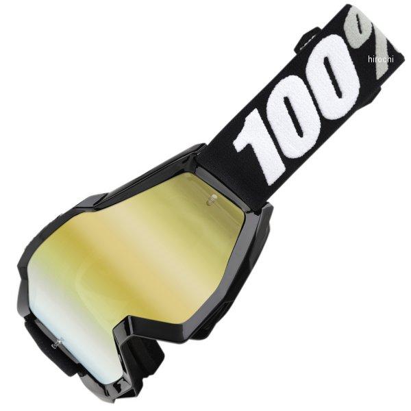 【USA在庫あり】 100パーセント 100% ゴーグル Accuri Tornado/ゴールドミラーレンズ/黒 白ストラップ 2601-2059 HD店