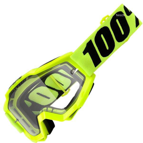 【USA在庫あり】 100パーセント 100% ゴーグル Accuri Enduro Fluorescent 黄/クリアレンズ/蛍光イエロー 黒ストラップ 2601-2435 HD店