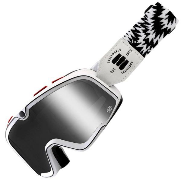 【USA在庫あり】 100パーセント 100% ゴーグル Barstow Classic Death Spray/シルバーミラーレンズ/白 黒ストラップ 2601-2452 HD店