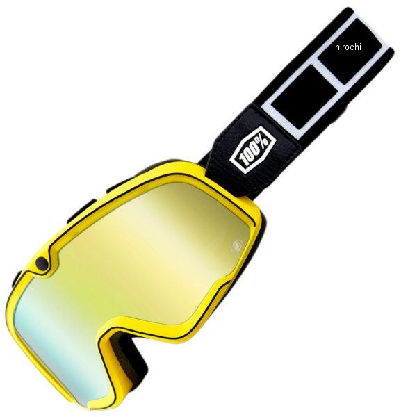 【USA在庫あり】 100パーセント 100% ゴーグル Barstow Classic Burnworth/ゴールドミラーレンズ/黒 白ストラップ 2601-2565 HD店