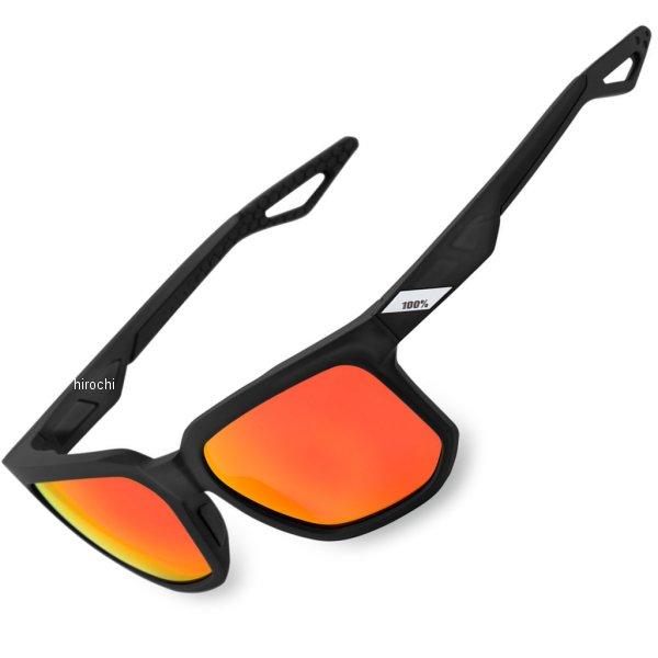【USA在庫あり】 100パーセント 100% サングラス Active Lifestyle Centric Soft tact 黒/赤ミラーレンズ 2610-1055 HD店