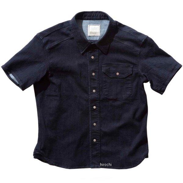 カドヤ KADOYA 春夏モデル ワークシャツ RIDE -SS ネイビー Lサイズ 6247-0 HD店