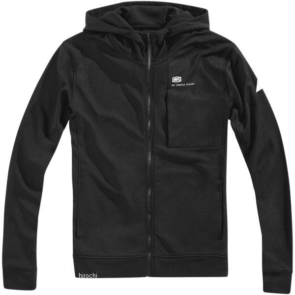 【USA在庫あり】 100パーセント 100% フリース Zip-Front Regent 黒 Lサイズ 3050-4708 HD店