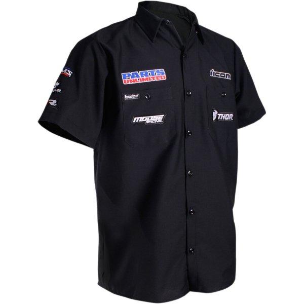 【USA在庫あり】 スロットルスレッズ Throttle Threads ショップシャツ Parts Unlimited 黒 Mサイズ 3040-2570 HD店