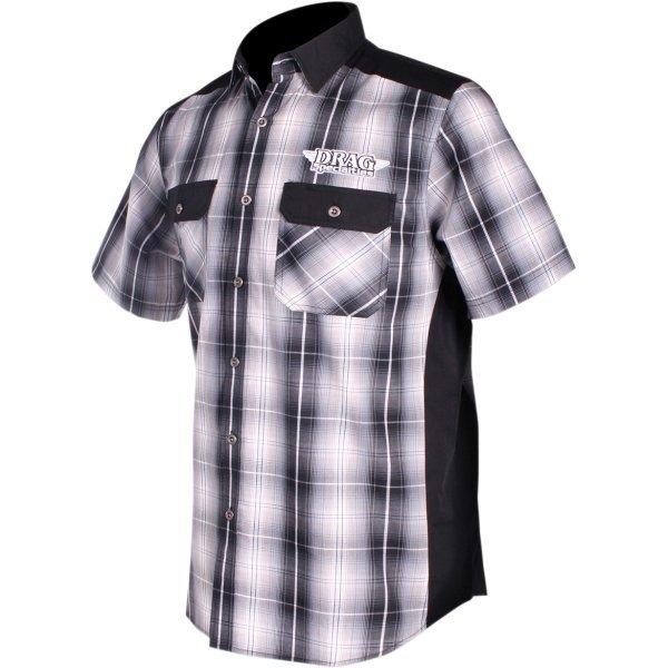 【USA在庫あり】 スロットルスレッズ Throttle Threads ショップシャツ Plaid Drag Specialties 黒/白 4XLサイズ 3040-2730 HD店