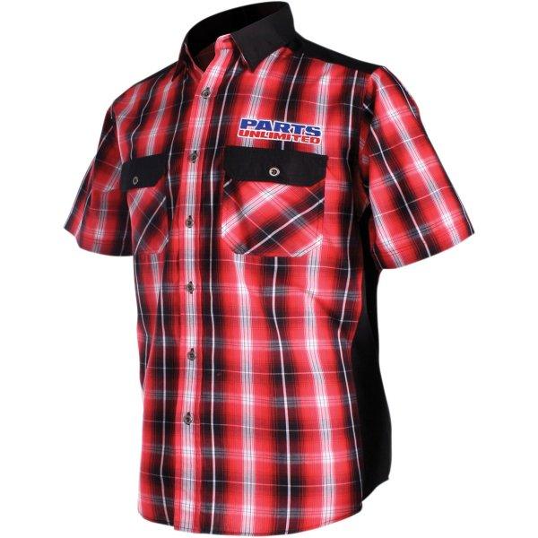 【USA在庫あり】 スロットルスレッズ Throttle Threads ショップシャツ Plaid Drag Specialties 赤/白 4XLサイズ 3040-2737 HD店