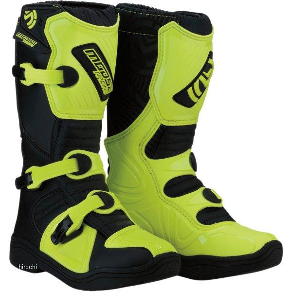 【USA在庫あり】 ムースレーシング MOOSE RACING ブーツ 子供用 M1.3 黒/蛍光黄 2(21.5cm) 3411-0445 HD店