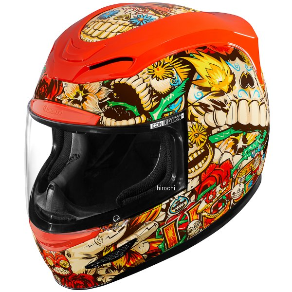 アイコン ICON フルフェイスヘルメット AIRMADA LOSMUERTOS 赤 3XLサイズ 0101-12050 HD店
