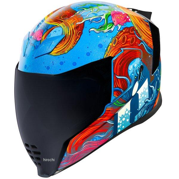 アイコン ICON 2019年春夏モデル フルフェイスヘルメット AIRFLITE INKY 青 Lサイズ 0101-12054 HD店