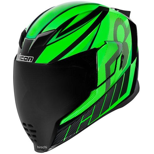 アイコン ICON 2019年春夏モデル フルフェイスヘルメット AIRFLITE QB1 緑 3XLサイズ 0101-12078 HD店
