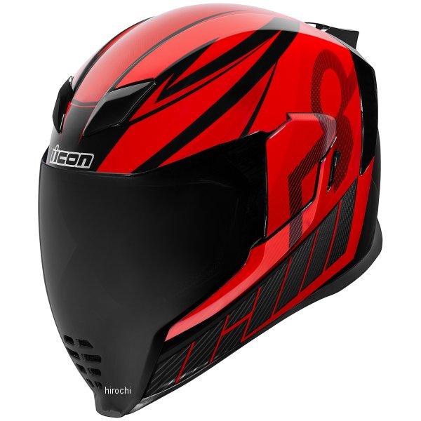 アイコン ICON フルフェイスヘルメット AIRFLITE QB1 赤 Lサイズ 0101-12082 HD店