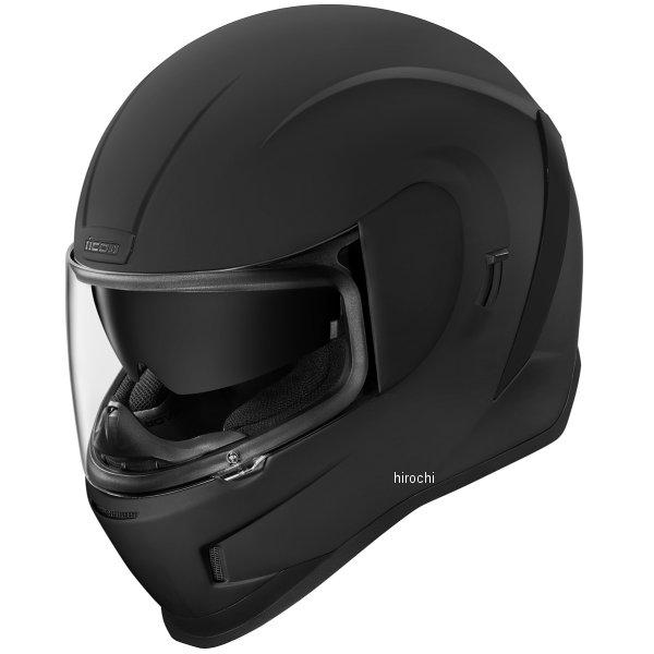 アイコン ICON フルフェイスヘルメット AIRFORM ラバーブラック XSサイズ 0101-12093 HD店