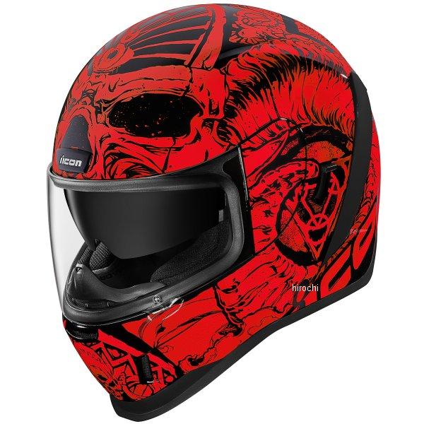 アイコン ICON フルフェイスヘルメット AIRFORM SACROSANCT 赤 Lサイズ 0101-12124 HD店