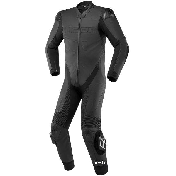 アイコン ICON 2019年春夏モデル レザースーツ HYPERSPORT MFJ公認 黒 60サイズ 2801-1273 HD店