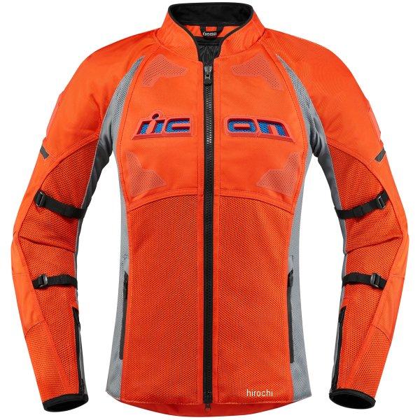 アイコン ICON ジャケット CONTRA2 レディース グレー/オレンジ Lサイズ 2822-1176 HD店