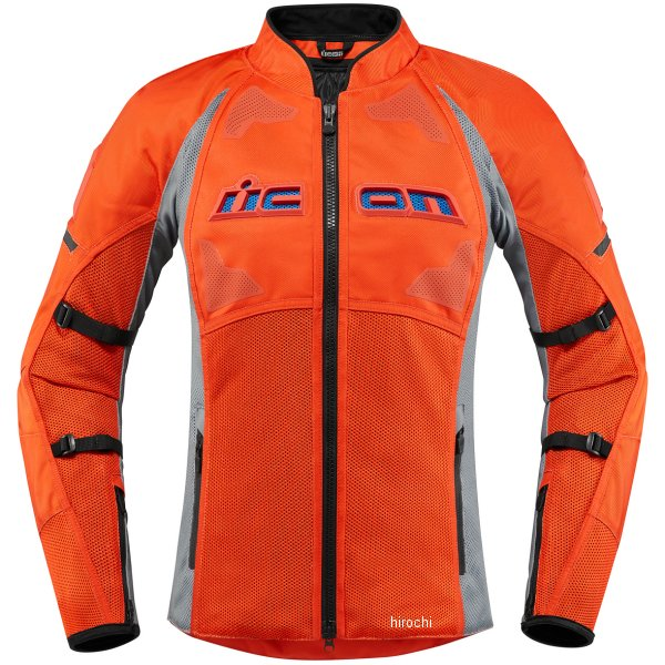 アイコン ICON ジャケット CONTRA2 レディース グレー/オレンジ 2XLサイズ 2822-1178 HD店