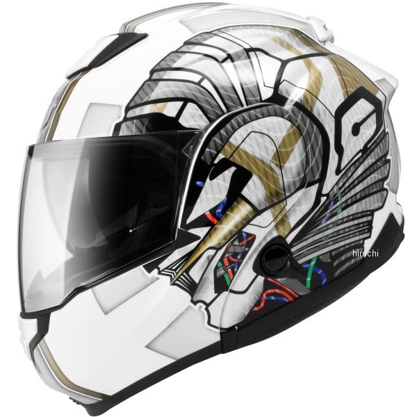 【メーカー在庫あり】 ジーロット ZEALOT システムヘルメット ZG システムツアラー SysytemTourer GRAPHIC 白/シルバー Lサイズ ZGST0012/L HD店