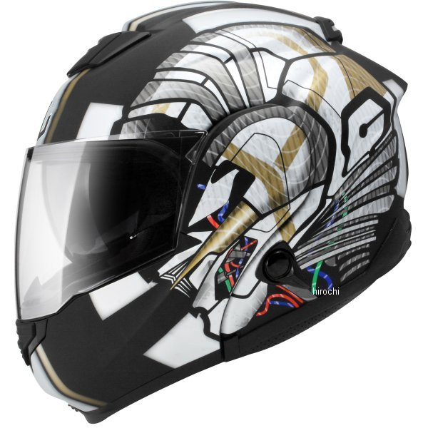 【メーカー在庫あり】 ジーロット ZEALOT システムヘルメット ZG システムツアラー SysytemTourer GRAPHIC マットブラック/シルバー Lサイズ ZGST0013/L HD店