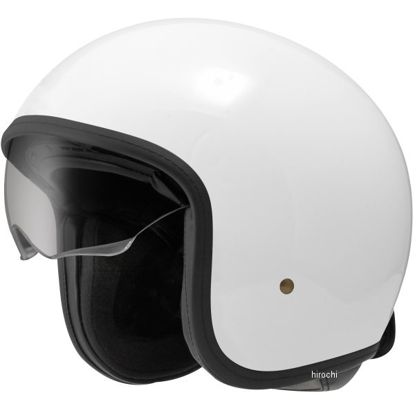 【メーカー在庫あり】 ジーロット ZEALOT ジェットヘルメット NV インナーシールドジェット NV InnerShield Jet 白 Mサイズ NV0013/M HD店