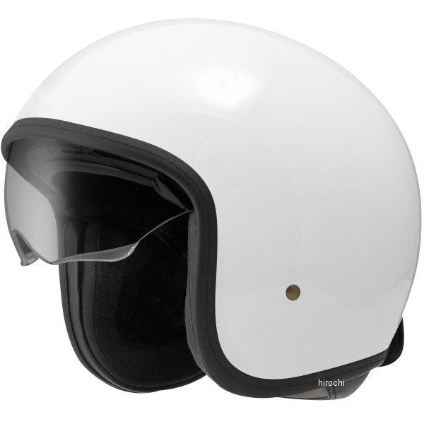 【メーカー在庫あり】 ジーロット ZEALOT ジェットヘルメット NV インナーシールドジェット NV InnerShield Jet 白 Lサイズ NV0013/L HD店