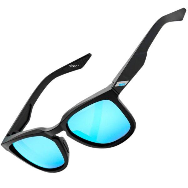 【USA在庫あり】 100パーセント 100% サングラス Active Lifestyle Hudson 黒(つや消し)/青ミラーレンズ 954840 HD店