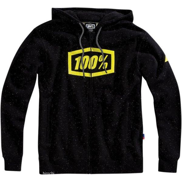 【USA在庫あり】 100パーセント 100% ジップフーディー Syndicate 黒/グリーン LG 955319 HD店