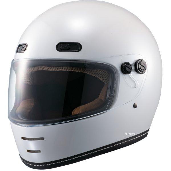 マルシン工業 Marushin フルフェイスヘルメット ネオレトロスタイル MNF1 エンドミル パールホワイト Mサイズ 4980579002222 HD店