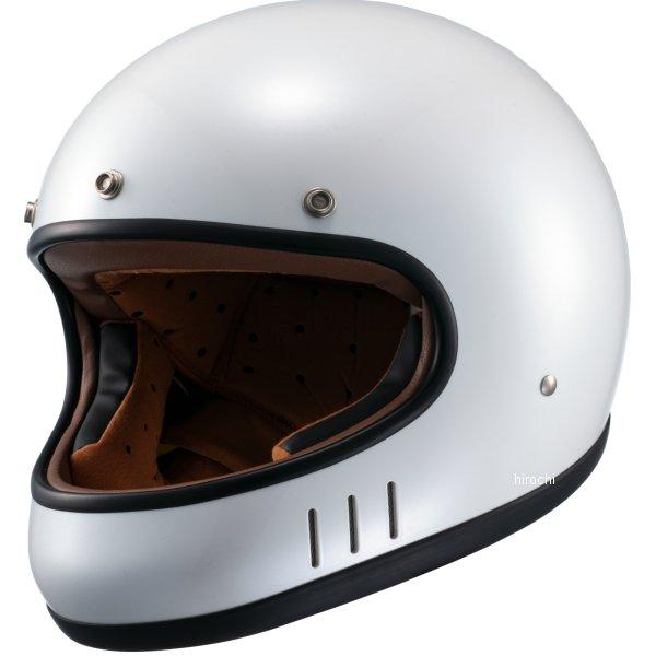 マルシン工業 Marushin フルフェイスヘルメット ネオレトロスタイル MNF2 DRILL ドリル パールホワイト Lサイズ 4980579002437 HD店