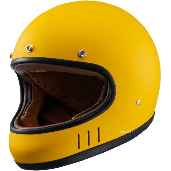 マルシン工業 Marushin フルフェイスヘルメット ネオレトロスタイル MNF2 DRILL ドリル マスタードイエロー Mサイズ 4980579002543 HD店