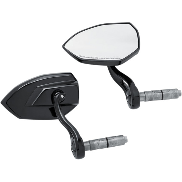【USA在庫あり】 クリアキン Kuryakyn MIRROR PHANTOM B/END BLK 0640-1312 HD店