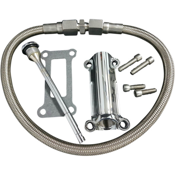 【USA在庫あり】 DRAG Specialties ドラックスペシャリティー SPOUT ENG OIL 99-01 FL CH 0710-0254 HD店
