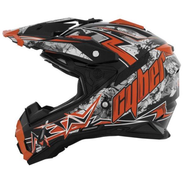 【USA在庫あり】 サイバー CYBER オフロードヘルメット UX-28 Lightning 黒/オレンジ 2XL (63cm) CY0385 HD店