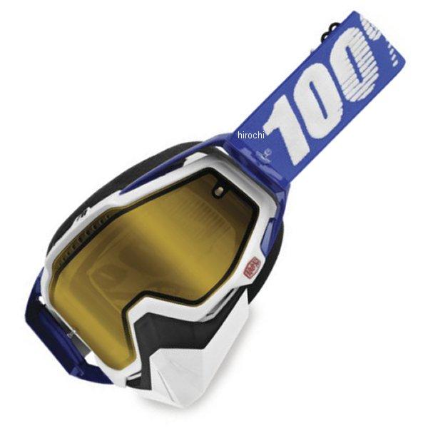 【USA在庫あり】 100パーセント 100% ゴーグル スノー Racecraft Cobalt Blue 黄レンズ 951143 HD店