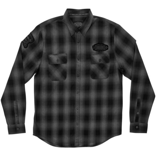 【USA在庫あり】 リーサルスレット Lethal Threat ワークシャツ Motorgear Death Row グレー 2XL 766177 HD店