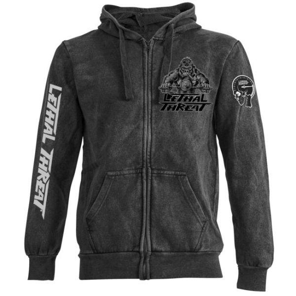 【USA在庫あり】 リーサルスレット Lethal Threat フーディー Riding Gorllia 黒 MD LT0044 HD店
