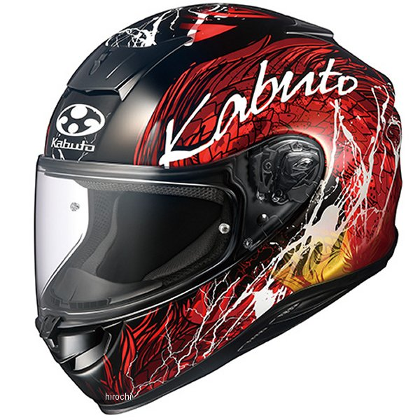 オージーケーカブト OGK KABUTO フルフェイスヘルメット AEROBLADE-5 DRAGON 黒赤 XXLサイズ 4966094584412 HD店