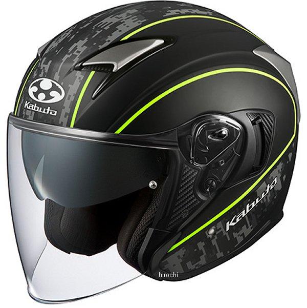【メーカー在庫あり】 オージーケーカブト OGK KABUTO ジェットヘルメット EXCEED DELIE フラットカモ黄 Mサイズ 4966094584443 HD店