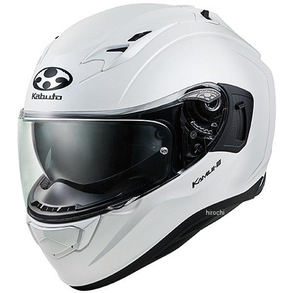 【メーカー在庫あり】 オージーケーカブト OGK KABUTO フルフェイスヘルメット KAMUI 3 パールホワイト Lサイズ 4966094584634 HD店