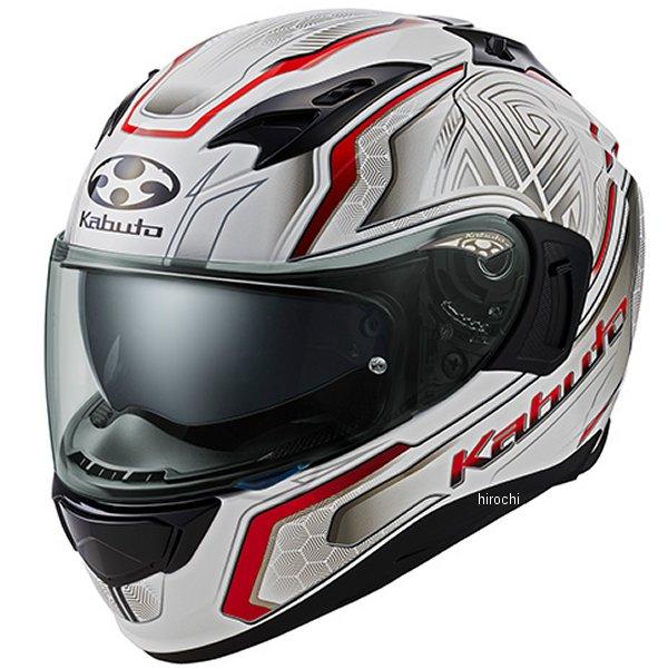 オージーケーカブト OGK KABUTO フルフェイスヘルメット KAMUI 3 CIRCLE パールホワイト赤 XLサイズ 4966094585655 HD店
