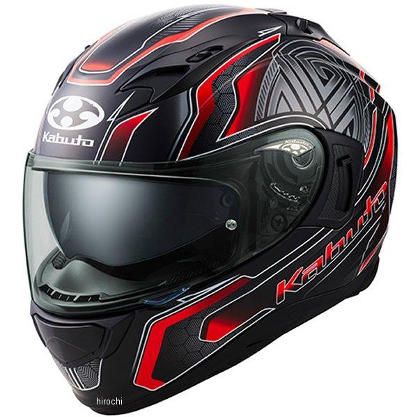 オージーケーカブト OGK KABUTO フルフェイスヘルメット KAMUI 3 CIRCLE フラットブラック赤 Lサイズ 4966094585693 HD店