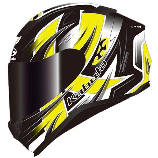 オージーケーカブト OGK KABUTO フルフェイスヘルメット AEROBLADE-5 HURRICANE フラットブラック黄 Mサイズ 4966094586850 HD店