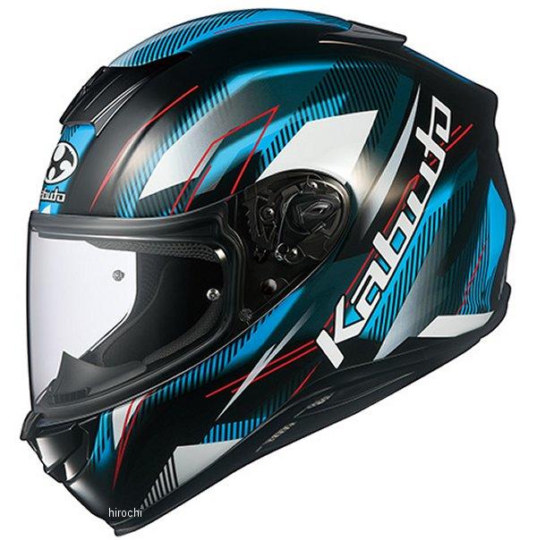 オージーケーカブト OGK KABUTO フルフェイスヘルメット AEROBLADE-5 GO 黒ライトブルー Mサイズ 4966094587031 HD店
